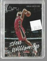 Zion Williamson 2019 Panini Luminance chronicles rookie card -- Pelicans