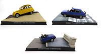 Set of 3 Model Cars James Bond 007 1:43 Citroën Renault Eaglemoss Diecast LJB2