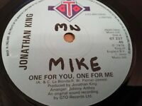 """JONATHAN KING * ONE FOR YOU ONE FOR ME * 7"""" SINGLE 1978 VERY GOOD"""