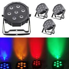 4Stlk RGBW LED PAR 64 DMX 512 Scheinwerfer 7x10W Spot Wash Floorspot DJ Licht