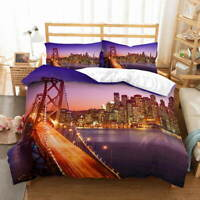 Twilight Evening 3D Quilt Duvet Doona Cover Set Single Double Queen King Print