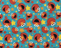 "Sesame Street Elmo Faces Digital 100% Cotton Fabric REMNANT approx 15.5""x21"""