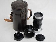 Nikon RF rangefinder 13.5cm f:3.5 135mm black lens with caps/hood/case, MINTY