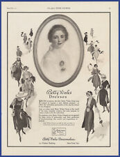 Vintage 1921 BETTY WALES Dresses Dressmakers Fashion Art Decor Print Ad 1920's