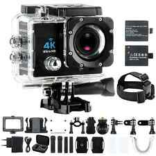 "Sport Action Camera 4K Ultra Hd 30fps Wifi Waterproof Cam Dvr Camcorder 2"" Lcd"