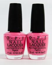 2 Opi Nail Color Polish .5 oz #Nl A68 Kiss Me I'M Brazilian - baby pink