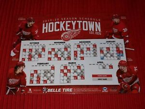 2019-20 DETROIT RED WINGS MAGNET SCHEDULE-Larkin, Mantha, Bertuzzi, Athanasiou