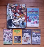 6 Vintage NFL Pro Football Books