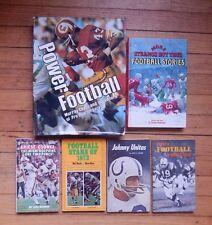 6 Vintage NFL Pro Football Books