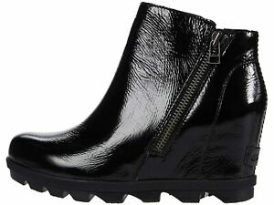 Sorel Joan of Arctic Wedge II Zip Black Boots Women's Size 11 US