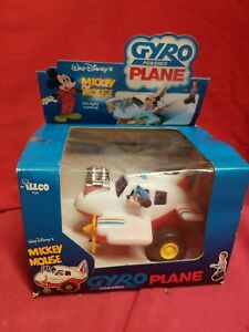 Vintage Disney  Mickey Mouse Gyro Powered Plane