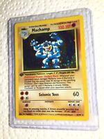Pokemon MACHAMP 1st Edition Holo Rare 8/102 Base Set Card EXC/NEAR MINT