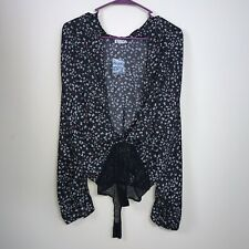 Intimately Free People Ladylike Bodysuit Butterfly Shirt Top Combo Small NEW