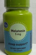 Melatonin 5 Mg 120 Soft gel New 2022 Exp Date