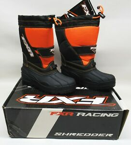 FXR Racing Youth Black/Orange Shredder Boots   - YOUTH SIZE: 13