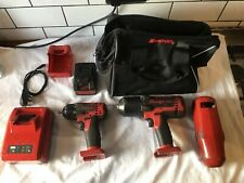 Snap-On Impact Guns 18v Lithium 1/2 and 3/8 drive Used.