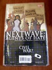 NEXT WAVE : Agents of Hate Civil War n°11 2007 Marvel Comics  [SA32]