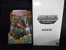 DEKKER - He-Man SHE-RA Masters of the universe classics MOTUC brand new