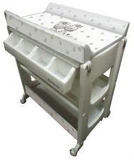 table à langer avec baignoire zèbre tuyau vidange rangement neuf