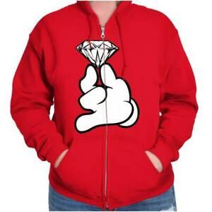 Diamond Ring Mickey Shirt Pink Disney Princess Cute Gift Cool Zip Hoodie