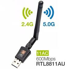 600Mbps 2.4G 5G Dual Band USB Wireless WiFi Lan Adapter Network Card Receiver