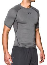 Under Armour UA Men's HeatGear Compression Short Sleeve Shirt - Grey - New