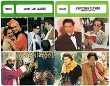 FICHE CINEMA x2 : CHRISTIAN CLAVIER -  France (Biographie/Filmographie)