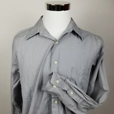 DKNY Men Button Down Long Sleeve Dress Shirt Super 100s 2 Ply 16.5 34/35 L Large