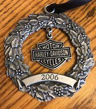 HARLEY-DAVIDSON Motorcycles 2006 Bar & Shield Pewter Wreath ORNAMENT 96908-07V
