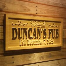 wpa0161 Name Personalized PUB HOME BAR Established Date Wooden Sign