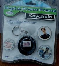 "Digital Concepts Digital Photo Frame Keychain - Black - 1.1"" Screen - 42 Images"