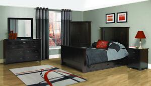 6-Pc Set Shaker Bedroom Platform Bed Solid Wood Drawer Storage USA Queen King