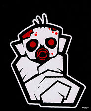 *BLOODY* Zombie Baby Todder Kid Family Car Decal Sticker   +  **FREE DECAL**