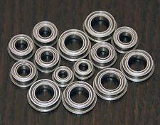 (14pcs) KYOSHO SCORPION /TURBO SCORPION /TOMAHAWK Metal Sealed Ball Bearing Set