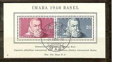 BLOC SUISSE N° 13 IMABA 1948 BASEL OBLITERE COTE EUROS 80