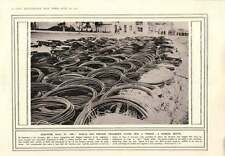 1914 bobinas de alambre de hierro para detener fragmentos de Shell capturados Armas Puerta de Brandemburgo Disp