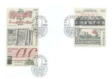 Sweden 1983 Mi 1225-29 FDC 500 years of printing