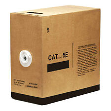 1000ft Cat5E ETHERNET NETWORK CABLE PAYOUT PULL BOX 24AWG SOLID COPPER 350MHZ