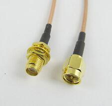 SMA Male to SMA Female Nut Bulkhead Crimp RG316 Coax Cable Jumper Pigtail 15cm