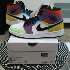 Nike Air Jordan 1 Mid SE Lightbulb Easter pastel Multicolour UK5 Brand New