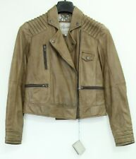Woman's real leather taupe jacket (10)... Sample 1745