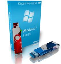 Lenovo Windows 7 Starter Repair Reinstall Recovery Boot USB + Driver USB 32 Bit
