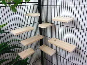 8 Pack 9.4cm pine Shelves/Ledges, Chinchilla,Rat Degu, Hamster Cage