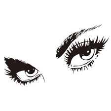 Mural Eye Removable Wall Art Decal Sticker Wall Decal Decorpack of 1 ( black )