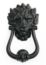 Black Cast Iron Lion's Head Door Knocker  Number 10 Downing Street Door Knockers