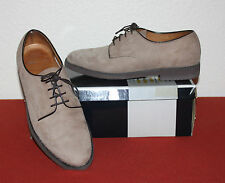 CHURCH`S UK 7.5 CLASSIC SMART LACE UPS IN TAUPE NUBUCK LEATHER EU 41.5 G FIT