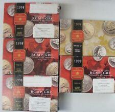 (5) 1998 Royal Canadian Sterling Coin Sets (4) Proof Sets, & (1) Speciman Set
