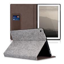 Kwmobile cartera case fieltro funda para asus zenpad 10 gris claro cover funda tablet
