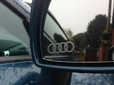 4 X AUDI LOGO WING SIDE MIRROR DECALS STICKERS ETCHED EFFECT