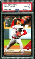 2018 Topps Now Shohei Ohtani Otani Japanese #678 RC Very LOW POPULATION PSA 10!